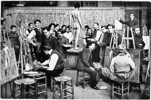 Studenti v akademii École